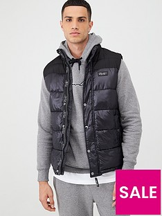 river-island-prolific-black-high-shine-padded-gilet