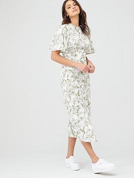 v-by-very-angel-sleeve-midinbspshirt-dress-white-botanicalnbsp