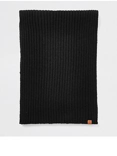 river-island-black-prolific-rib-knitted-scarf