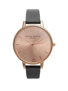 olivia-burton-olivia-burton-rose-gold-sunray-big-dial-black-leather-strap-ladies-watch