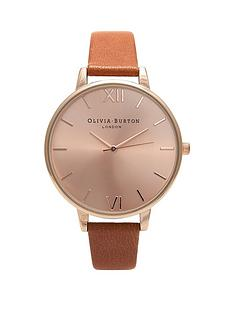 olivia-burton-olivia-burton-rose-gold-sunray-dial-tan-leather-strap-ladies-watch