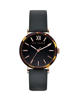 ted-baker-ted-baker-black-and-tortoise-shell-case-dial-black-leather-strap-ladies-watch