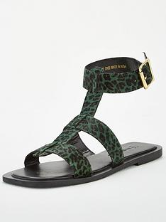 v-by-very-heron-leather-wide-fit-square-toe-gladiator-sandals-green