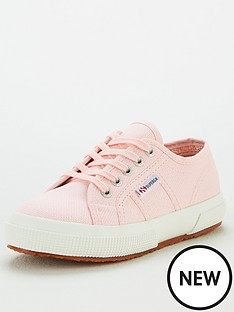 superga-girls-2750-jcot-classic-lace-up-plimsoll-pumps-pink