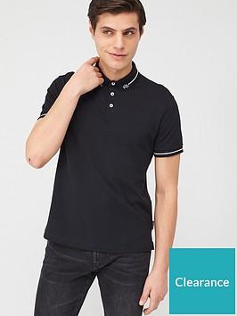armani-exchange-ax-collar-pique-polo-shirt-black