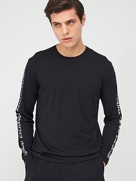 armani-exchange-taping-logo-long-sleeve-t-shirt-black