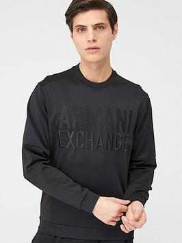 armani-exchange-embossed-logo-sweatshirt-black
