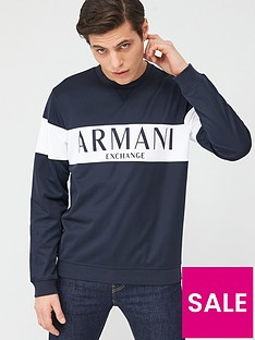 armani-exchange-panel-logo-sweatshirt-navy