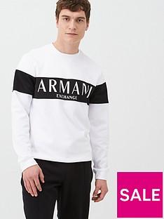 armani-exchange-panel-logo-sweatshirt-white