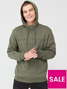 armani-exchange-logo-overhead-hoodie-green