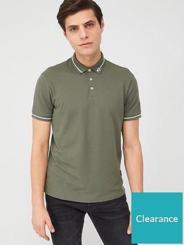 armani-exchange-ax-collar-pique-polo-shirt-beetle-khaki