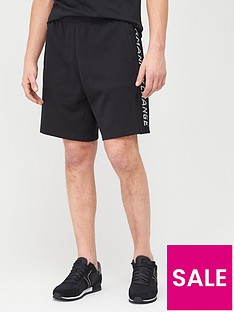 armani-exchange-taping-logo-jersey-shorts-black