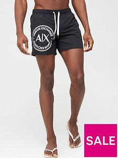 armani-exchange-large-ax-logo-swim-shorts-black