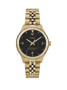 timex-timex-waterbury-black-34mm-dial-gold-stainless-steel-bracelet-watch