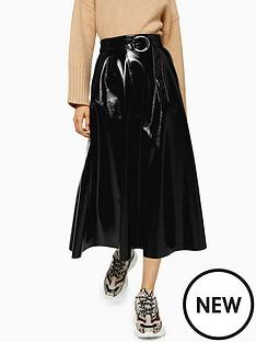 topshop-topshop-pu-full-midi-skirt-black