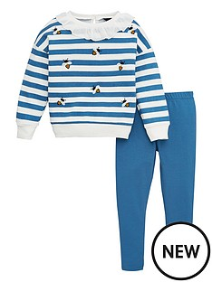 v-by-very-girls-bumble-bee-embroidered-striped-sweat-and-legging-set-navy