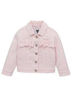 v-by-very-girls-frill-detail-denim-jacket-pink
