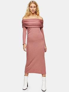 topshop-cut-and-sew-bardot-midi-dress-pink