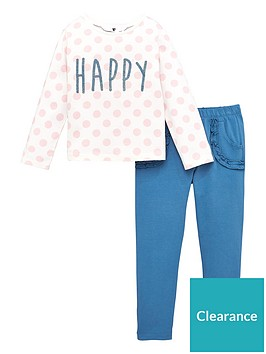 v-by-very-girls-2-piece-polka-dot-happy-sweatshirt-and-ruffle-joggers-set-navy
