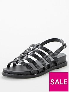 prod1089374472: Hennie Wide Fit Gladiator Sandals