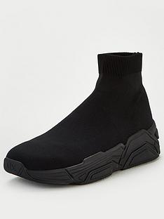 armani-exchange-knitted-sock-trainers-black