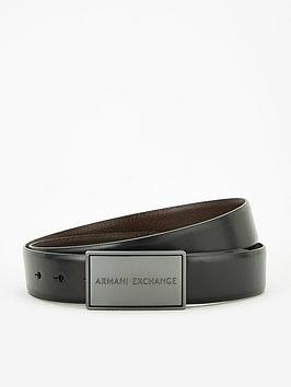 armani-exchange-plaque-leather-belt