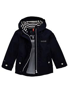 regatta-girls-bibiana-striped-lined-hooded-jacket-navy