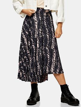 topshop-textured-warped-pleat-skirt-grey