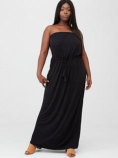 v-by-very-curve-bandeau-jersey-maxi-dress-black