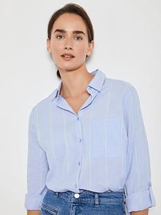 mint-velvet-chambray-stripe-shirt-blue