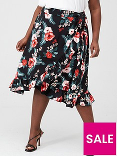 v-by-very-curve-ruffle-front-print-skirt-floral