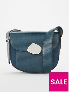 v-by-very-peoney-eyelet-strap-saddle-bag-teal