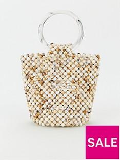 v-by-very-juice-beaded-bucket-bag-white