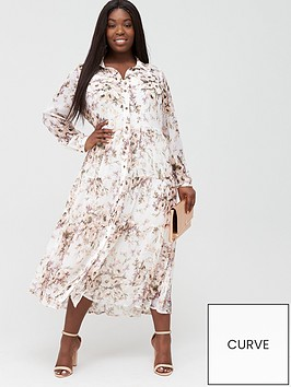 v-by-very-curve-tiered-midi-shirt-dress-creamfloral