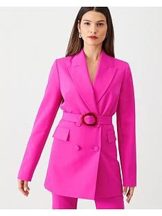 v-by-very-buckle-detail-colour-pop-jacket-pink