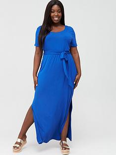 v-by-very-curve-maxi-t-shirt-dress-electric-blue