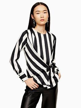 topshop-topshop-tie-side-blouse-mono