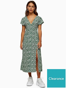 topshop-petite-ditsy-chuckon-midi-dress-green