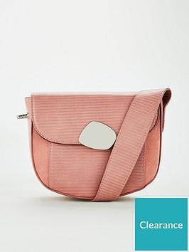 v-by-very-peoney-eyelet-strap-saddle-bag-pink
