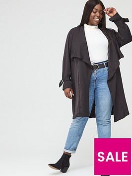 v-by-very-curve-waterfall-duster-black