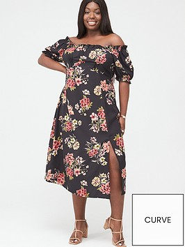 v-by-very-curve-bardot-midi-dress-black-floral
