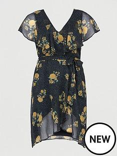 v-by-very-curve-ruffle-chiffon-tea-dress-black-print