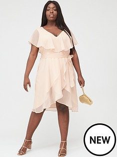 v-by-very-curve-ruffle-chiffon-tea-dress-pink