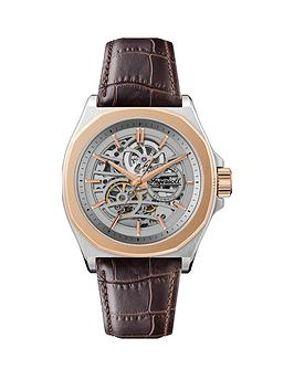 ingersoll-ingersoll-orville-silver-and-rose-gold-skeleton-automatic-dial-brown-leather-strap-watch