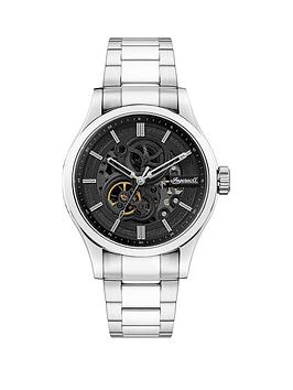 ingersoll-ingersoll-armstrong-black-and-silver-detail-skeleton-automatic-dial-stainless-steel-bracelet-watch