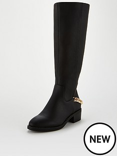 v-by-very-farrow-chain-detail-riding-boots-black
