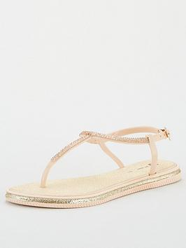 v-by-very-hana-diamante-t-bar-jelly-sandal-rose-gold