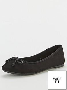 v-by-very-maci-wide-fit-round-toe-ballerina-black