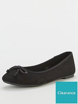 v-by-very-valuenbspmaci-wide-fit-round-toe-ballerina-black