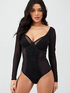 pour-moi-muse-long-sleeve-underwired-body-black